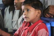young indian child learning