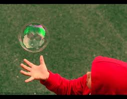 child with bubble