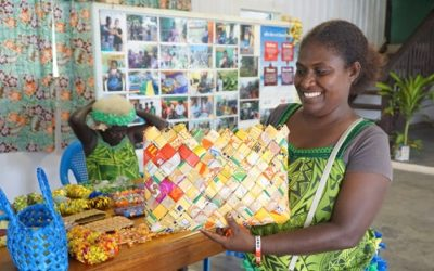 Transforming Plastic Waste into Works of Art in the Solomon Islands